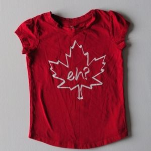 Canada Eh? Red T-shirt * 4T